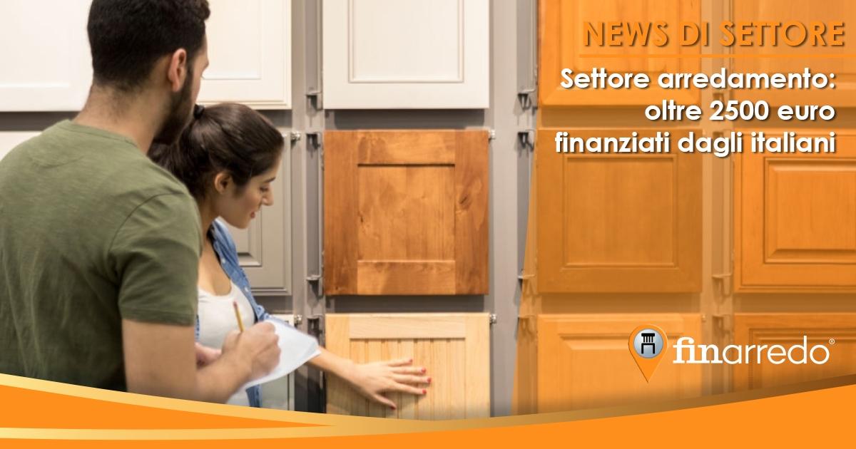 Settore arredamento: oltre 2500 euro finanziati dagli italiani